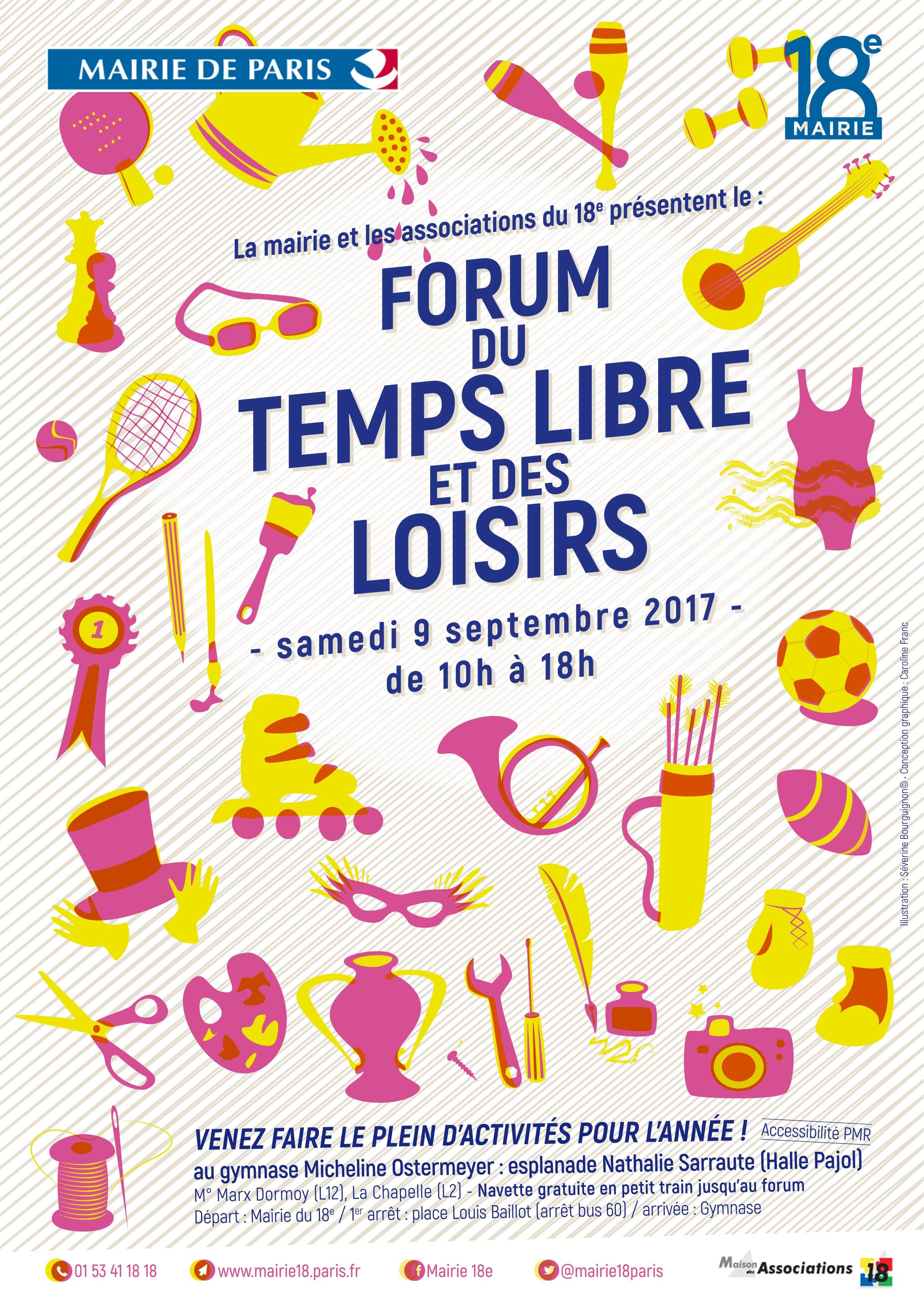 Retrouvez-nous au 16e Forum du temps libre et des loisirs, samedi 9 septembre !